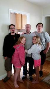 Scott, his brother Ross, Trevor, Addison, and her bff Macie