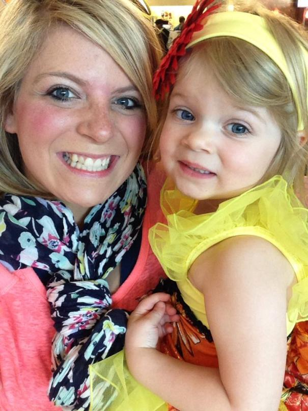Kayla Sykes and her three year-old daughter, Ellie