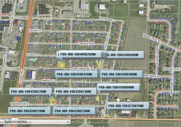 Here is a screenshot of the properties owned by Kristie Koester via Wood County Auditor's website. The PHCA Building is located directly at the top, middle.