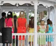 Another view of the Bridesmaids and their colors (Photo by Shannon Szyperski)