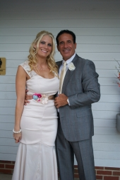Shannon and the man who walked her down the aisle, Dr. Tony Frogameni