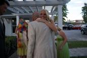 Shannon hugging my favorite man, My Grandpa Pete