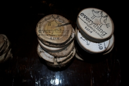"We created coasters from downed limbs in our neighborhood as a keepsake for the night. ""Everything happens for a reason"""