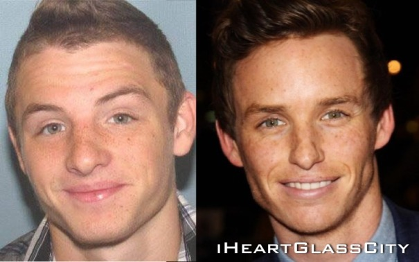 (Left) Recently arrested Toledoan Michael Gearhart (Right) The Theory of Everything star Eddie Redmayne